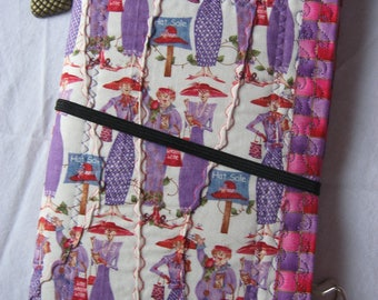 Red Hatters Fabric FauxDori MiDori Travelers notebook Planner