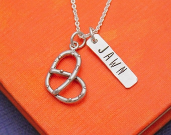 Philly Pretzel Jawn Necklace in Sterling Silver, Philadelphia PA Jewelry