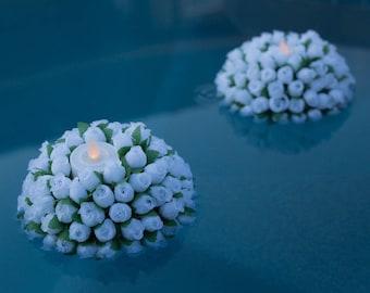 Floating Candles Kissing Ball Pomander Pool Weddings Set of 10