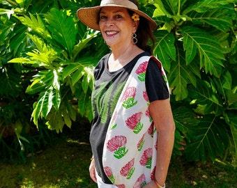 Holoholo Shoulder Bag with ʻŌhiʻa Lehua Block Prints