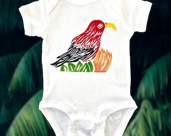Baby Onesie - ʻIʻiwi Block Prints