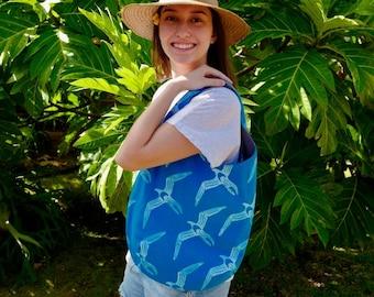 Holoholo Shoulder Bag - 2-Sided ʻIwa Block Prints