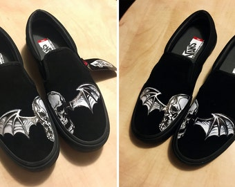 7e6bb3b046f4 Avenged Sevenfold  A7X  Deathbat Custom Shoes
