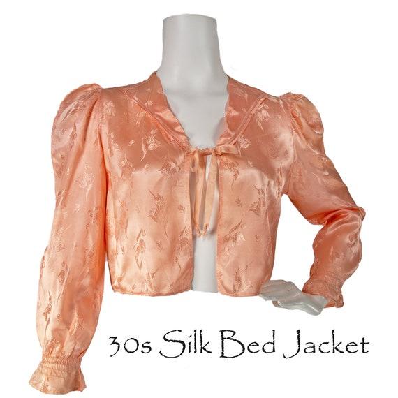 1930s Silk  Bed Jacket