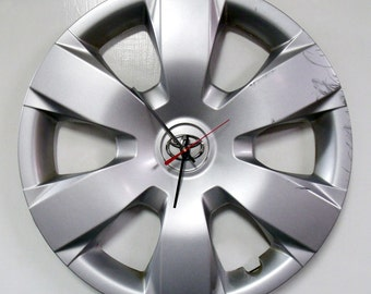 Recycled Toyota Camry Hubcap Clock - Automotive Wall Clock - 2007 - 2011