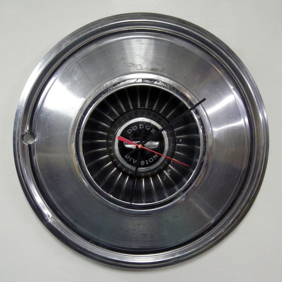 1976 Dodge Charger Wall Clock - 1972 - 1977 Polara Hub Cap Monaco Hubcap -  1973 1974 1975