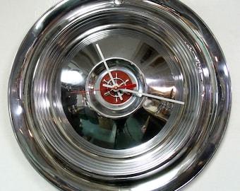 1955 - 1957 Packard Clipper Wall Clock - 1950's Classic Car Hubcap Clock - 1956 Hub Cap