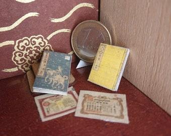 Japanese miniature dollhouse antique books set 5