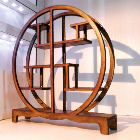 Orientalische Mobel Dunkles Holz Chinesisches Assymetrisches Etsy