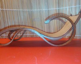 Art Nouveau style cream PU leather chaise longue, 1/12 miniature for dollhouses