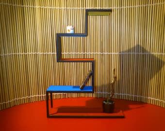 Modern furniture, Mondrianized cabinet, 1/12 miniature for dollhouses