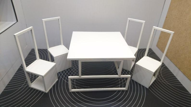 Miniatura moderna original mesa de comedor minimalista y | Etsy
