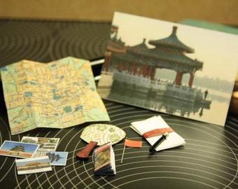 Souvenir set of Beijing, 1/12 dollhouse scale