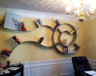 Kevjo Hanging Aluminum Wall Shelf