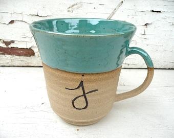 Personalized Mug, Initial Mug, Ceramic Mug; Stoneware Mug, Coffee Mug, Pottery Mug, Mug with Name, Personalized, Pottery, Clay Mug, Handmade