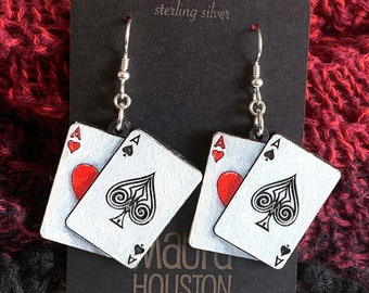 Pair of Aces Earrings
