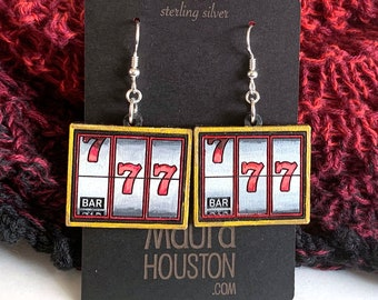 Slot Machine Earrings