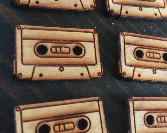 "Set of 6, 1"" Cassette buttons"