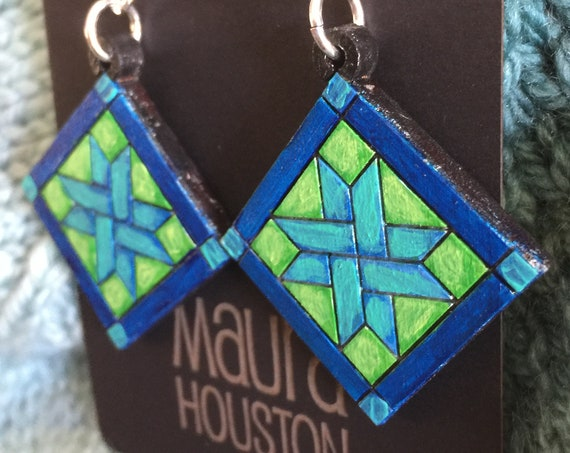 Quilting Block Earrings
