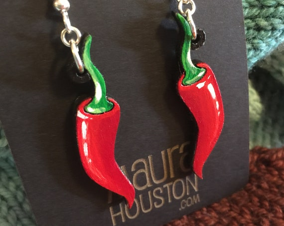Spicy Chili Pepper Earrings