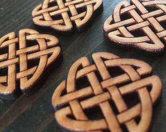 "Set of 4, 1"" Celtic Knot buttons // laser cut design on one side // gifts for her // FREE SHIPPING"