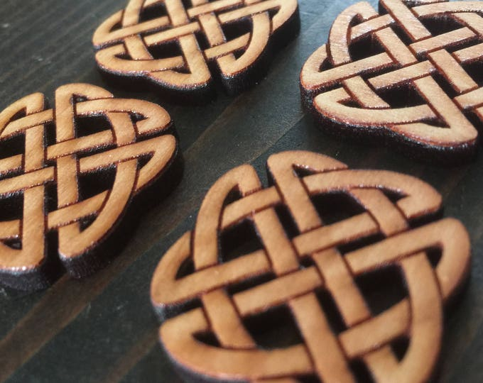 """Set of 4, 1"""" Celtic Knot buttons // laser cut design on one side // gifts for her // FREE SHIPPING"""