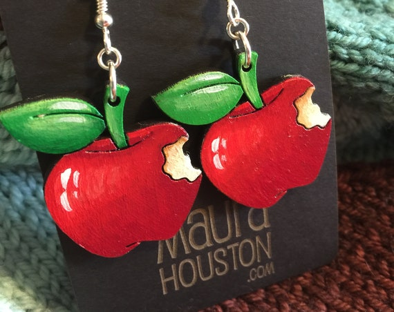 Red Apple Earrings