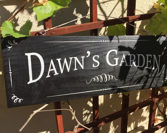Hand painted Custom Garden Sign // gifts for her // gifts for a gardener // gifts for him