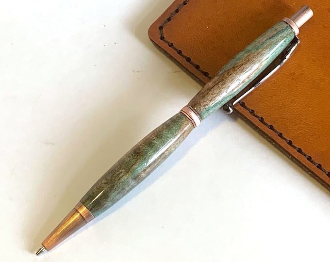 Featured listing image: Mechanical Pencil hand turned out of dye stabilized spalted maple wood