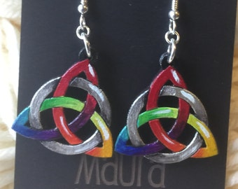 Rainbow Celtic Knot Earrings