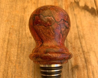 Hand turned wooden bottle stopper // gifts for him // gifts for her