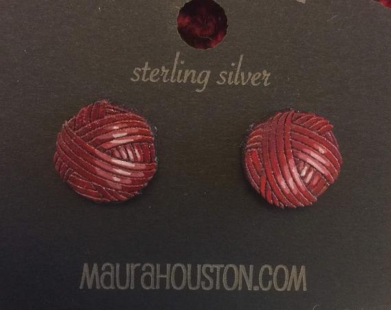 Ball of Yarn Stud Earrings