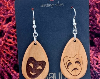 Drama Mask Earrings