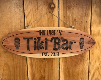 Custom Outdoor Tiki Bar Sign