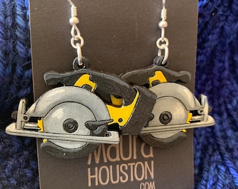 Circular Saw Earrings