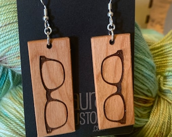 Retro glasses Earrings