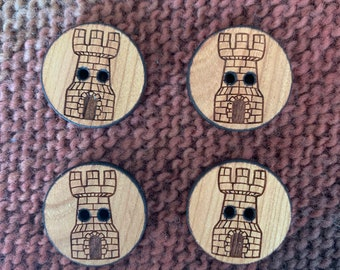 "1"" Round Castle Buttons"