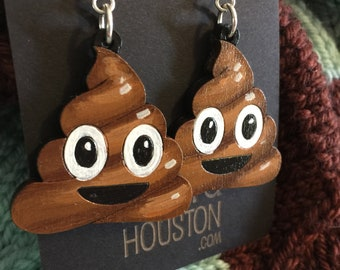 Poop Emoji Earrings// funny gifts