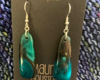 Hand carved resin earrings // gifts for her