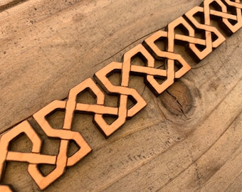 Laser cut Celtic Wooden Border with repeatable pattern (Set of 4)