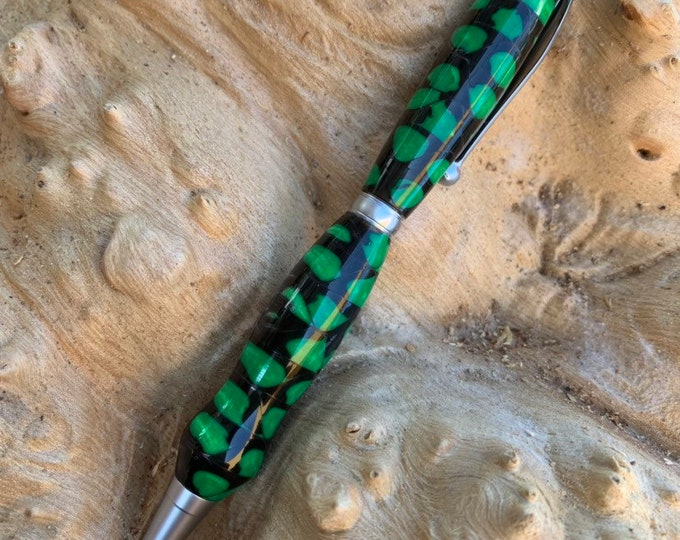 Hand turned Slimline style Pen with resin barrel // gifts for her // gifts for him
