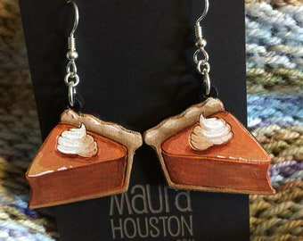 Pumpkin Pie Slice Earrings