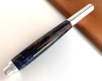 Hand Turned Raw Rollerball Style Pen