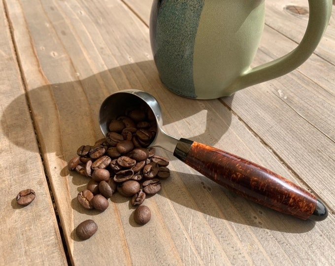 Hand turned 2T Coffee Scoop // gifts for him // gifts for her // gifts for coffee lovers