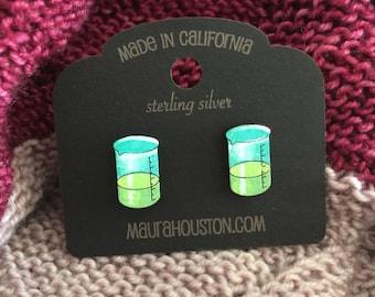 Beaker Stud Earrings