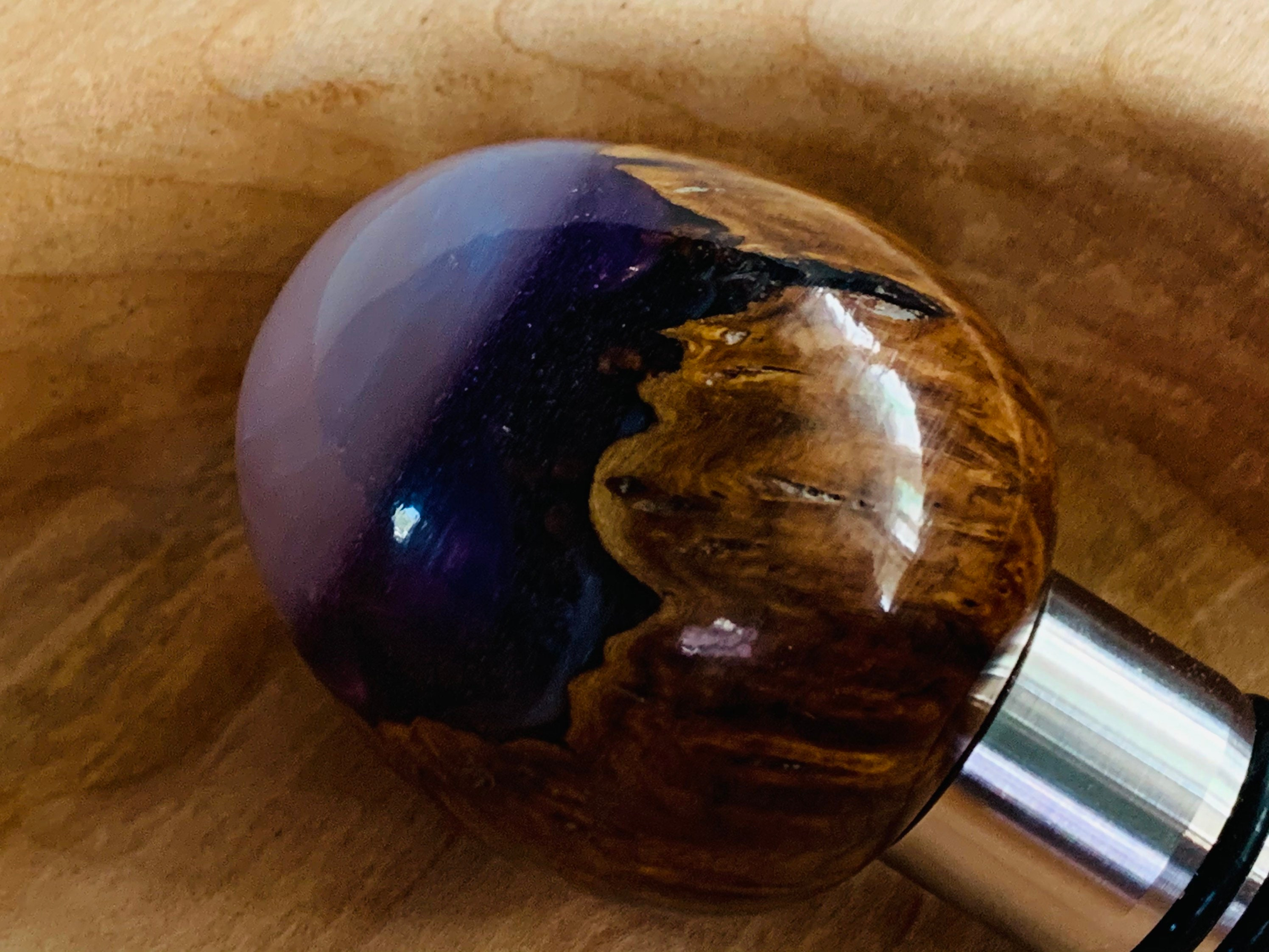 Palm Bottle Stopper Hand Turned One of a Kind