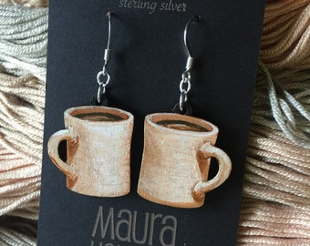 Coffee Mug Earrings