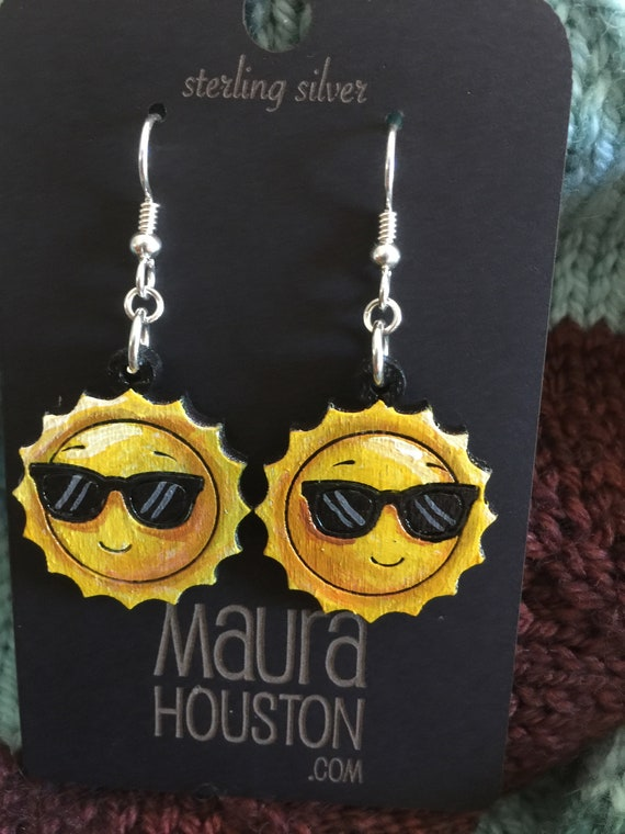 Sun with Sunglasses Earrings