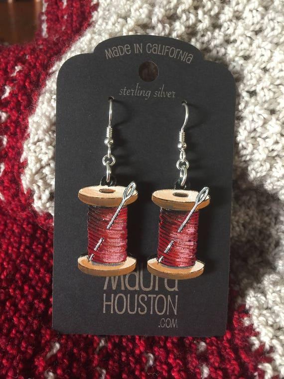 Spool of Thread Earrings