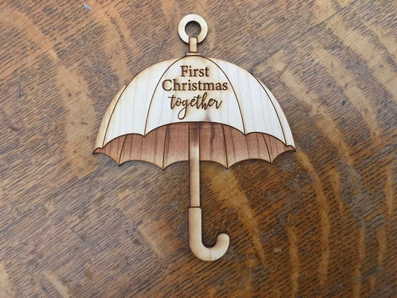 Personalized umbrella ornament for christmas // gifts for her // gifts for him